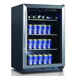 Stainless Steel 4.6-cubic Foot 138-can Beverage Cooler