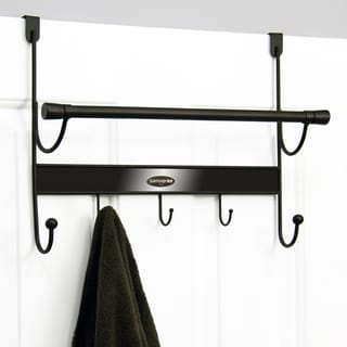 Samsonite Orb and Bronze 5-hook Over-the-Door Hanger and Towel Bar