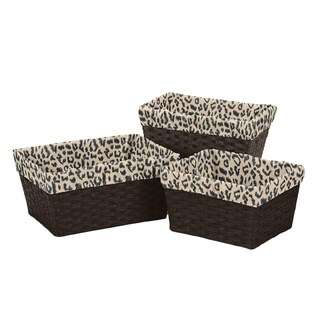 Sweet Jojo Designs Basket Liners in Animal Safari (Set of 3)