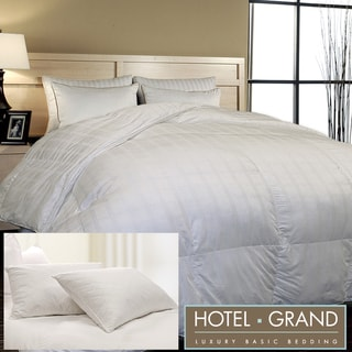 Hotel Grand Luxury 600 Thread Count Down Alternative Comforter with Two Bonus Pillows