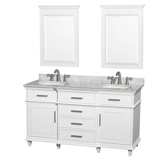 Wyndham Collection Berkeley White 60-inch Double Vanity