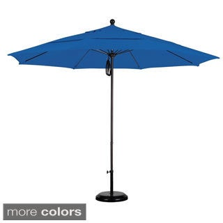 Commercial Sunbrella 11-foot Aluminum Umbrella with Stand