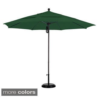 Commercial-quality Sunbrella 11-foot Aluminum Umbrella with Stand
