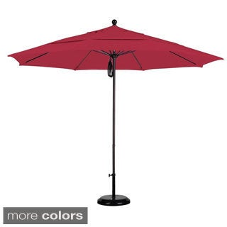 Commercial-grade Sunbrella 11-foot Aluminum Umbrella and Stand
