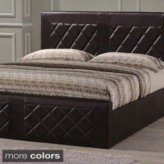 Tufted Leatherette Upholstered Bed