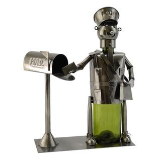 WineBodies Mail Carrier Metal Wine Bottle Holder