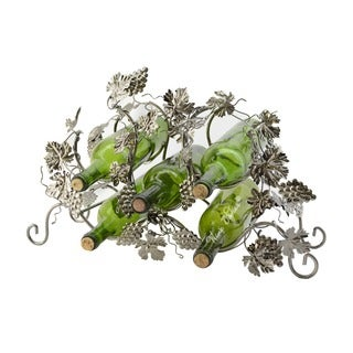 WineBodies Grape and Leaves Metal Wine Bottle Holder