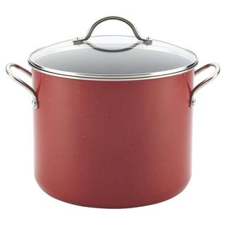 Farberware New Traditions Red Speckled Aluminum Nonstick 12-quart Covered Stockpot