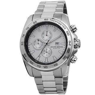 Akribos XXIV Men's Quartz Stainless Steel Tachymeter Bracelet Watch