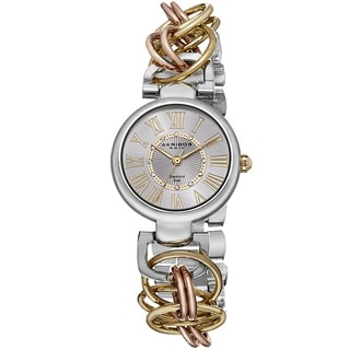 Akribos XXIV Women's Diamond Swiss Quartz Chain Link Bracelet Watch