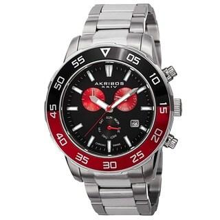 Akribos XXIV Men's Chronograph Stainless Steel Bracelet Watch