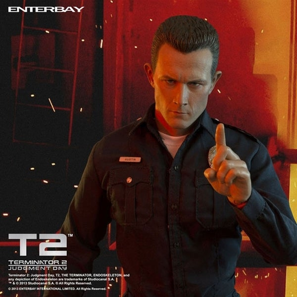 INSTEN Enterbay Masterpiece Terminator 2 The Judgment Day T1000 1:4 Figure