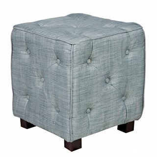 angelo:HOME Duncan Paris Sky Blue Small Tufted Cube Ottoman