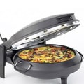 New Wave Matte Black Countertop Stone Bake Pizza Oven