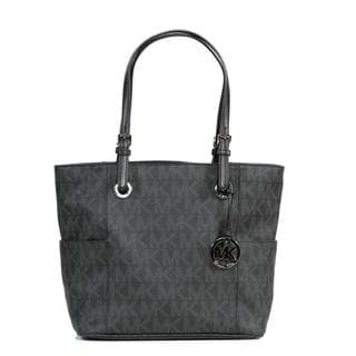 Michael Kors Jet Set East/West Signature Tote - PVC Logo Black