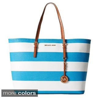 Michael Kors Jet Set Travel Stripe Medium Tote