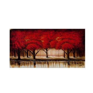 Rio 'Parade of Red Trees II' Canvas Art