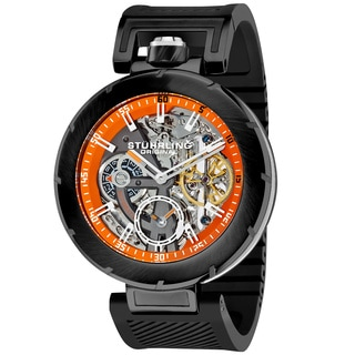 Stuhrling Original Men's Emperor VT 2 Automatic Skeleton Rubber Strap Watch