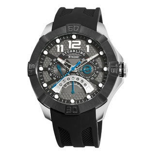 Stuhrling Original Men's Gen-X Mastermind Quartz Silicon Rubber Strap Watch