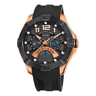 Stuhrling Original Men's Gen-X Mastermind Quartz Silicon Rubber Strap Watch