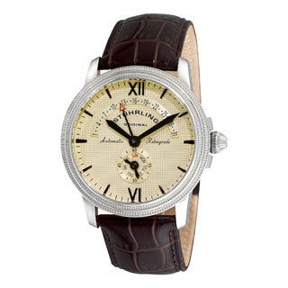 Stuhrling Original Men's Saturnalia Chairman Automatic Leather Strap Watch