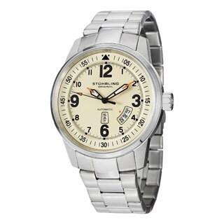 Stuhrling Original Men's Tuskegee Elite Automatic Stainless Steel Bracelet Watch