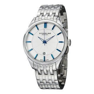 Stuhrling Original Men's Arlington Swiss Quartz Stainless Steel Bracelet Watch