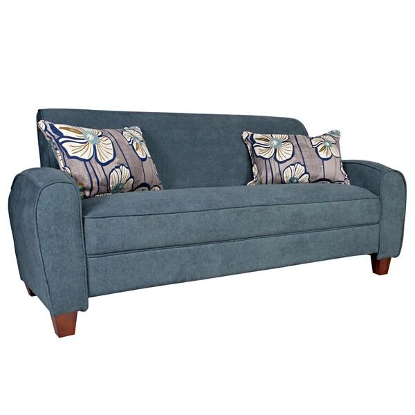 angelo:HOME Gordon Parisian Blue Evening Velvet Sofa