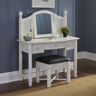 Marco Island Vanity and Bench White Finish