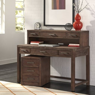 Barnside Executive Desk, Hutch, and Mobile File