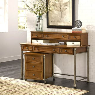 The Orleans Executive Desk, Hutch, and Mobile File