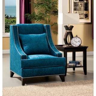 Furniture of America Tropak Fabric Nailhead Trim Accent Chair