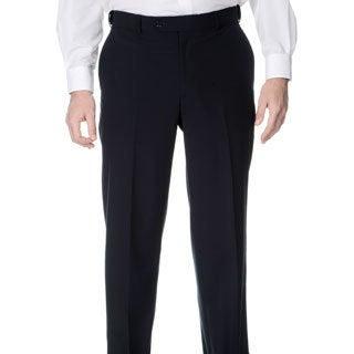 Henry Grethel Men's Navy Self-adjusting Expander Waist Flat-front Pants