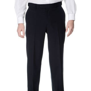 Henry Grethel Men's Navy Self-adjusting Expander Waist Flat-front Pants