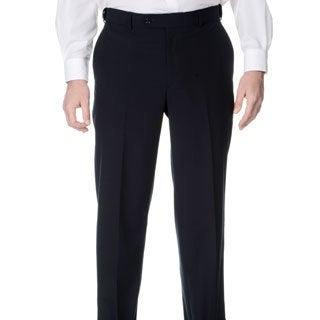 Henry Grethel Men's Navy Self-adjusting Expander Waist Flat-front Pant