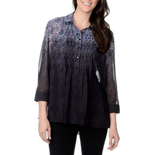 Chelsea & Theodore Women's Ombre Paisley Print Top