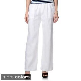 Chelsea & Theodore Women's Linen Pants