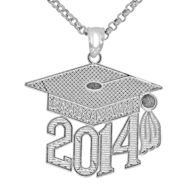 Sterling Silver 2014 Graduation Necklace