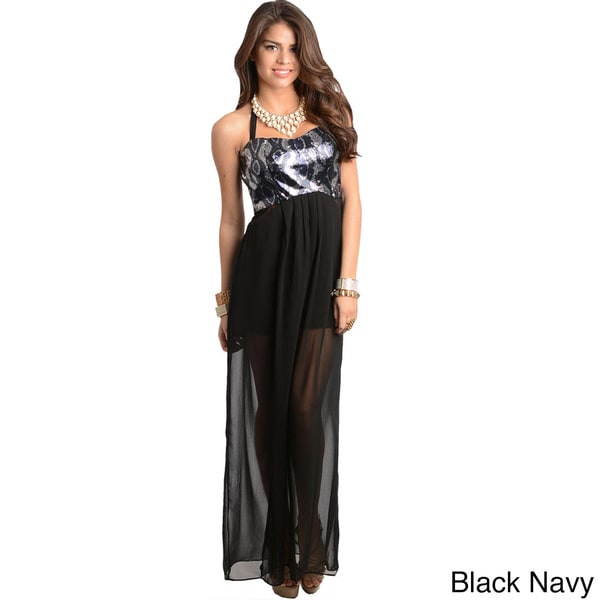 Shop The Trends Women's Snakeprint Bodice Maxi Dress