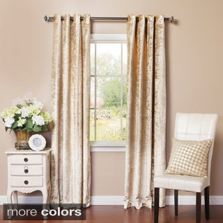 Velvet Grommet Top Curtain Panel Pair