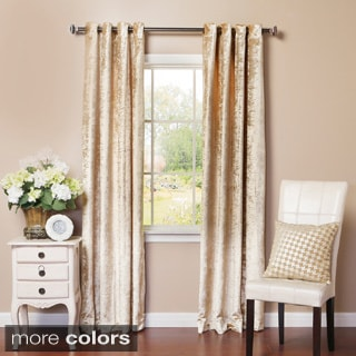 Lights Out Velvet Grommet Top Curtain Panel Pair