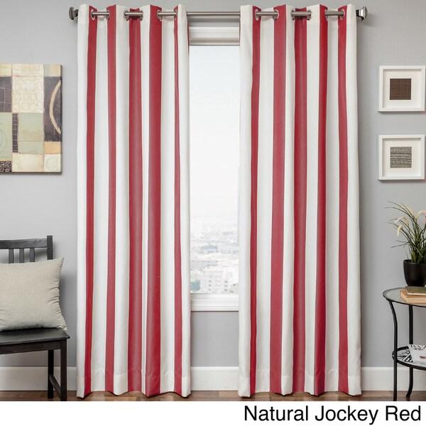 Sunbrella Cabana Stripe Indoor/Outdoor Curtain Panel - 16100618 ...