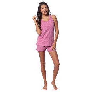 Aegean Appael Women's Rose Marl Loungewear Tank and Shorts Set