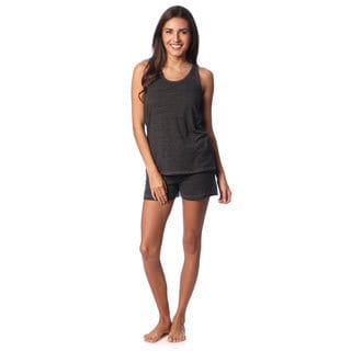 Aegean Appael Women's Charcoal Marl Loungewear Tank and Shorts Set