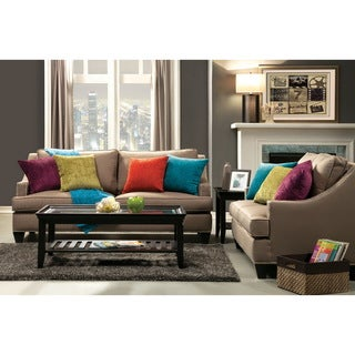 Furniture of America Colorful Tropak Fabric Sofa and Loveseat Set