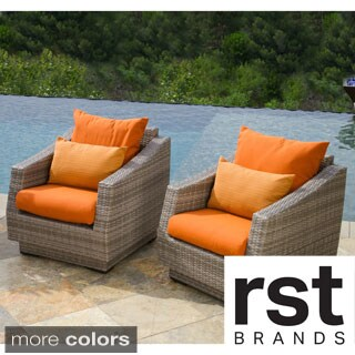Cannes Club Patio Chairs with Cushions (Set of 2)