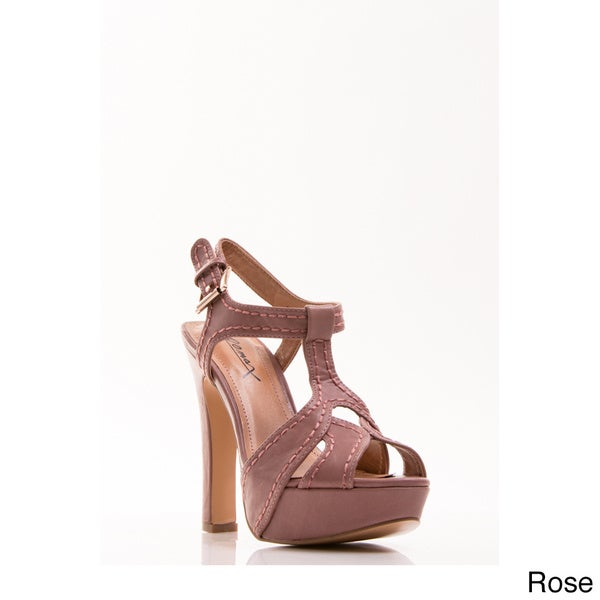 Gomax Women's Shoe 'Cliff Hanger 02' T-strap Plaform High Heel Sandals