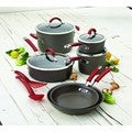 Rachael Ray Cucina Red/ Grey Hard-anodized Nonstick 12-piece Cookware Set **With $20 Mail-in Rebate**