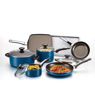 Farberware High Performance Teal Nonstick Aluminum 12-piece Cookware Set