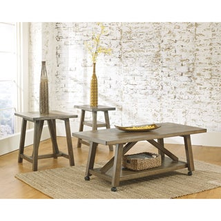 Signature Design by Ashley Brinetta Reclaimed Wood 3-piece Occasional Table Set
